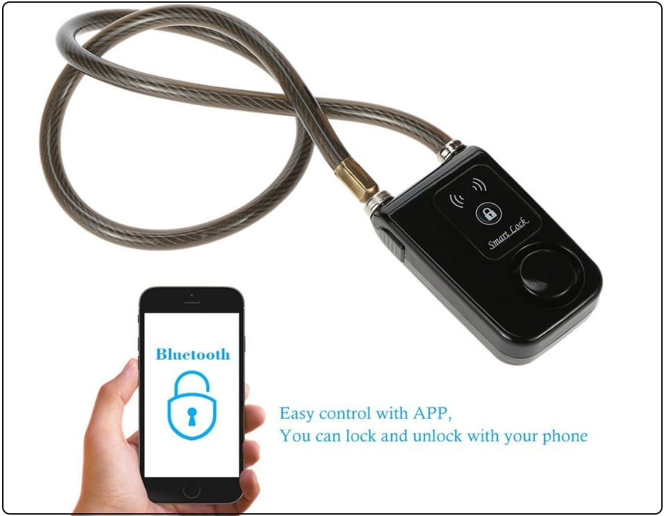 4 KKmoon bluetooth chain lock for remote unlock