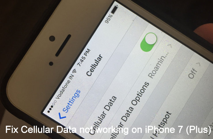 Fix Cellular Data not working on iPhone 7 on iOS 10