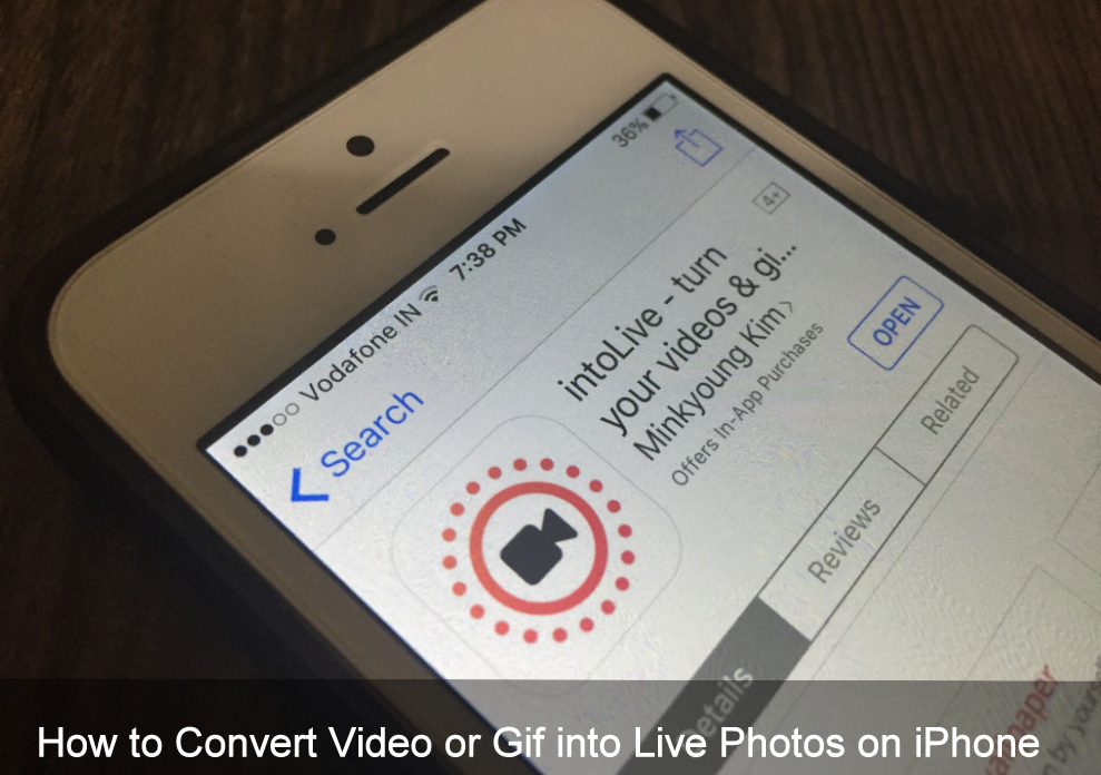 How to Convert Video or Gif into Live Photos on iPhone