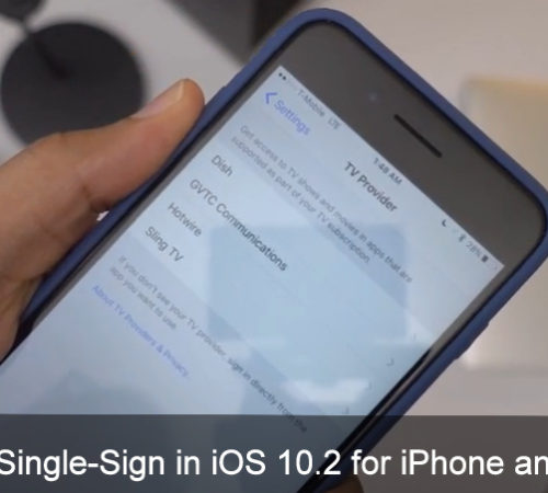 Enable Single Sign- On in iOS 10.2 on iPhone, iPad