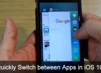 Easy way to Quickly Switch between apps in iOS 10 iPhone 7 Plus iPhone 6S Plus