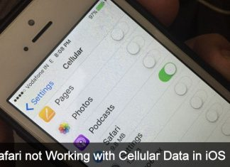 Safari not Working with Cellular Data in iOS 10 iPhone 7 Plus