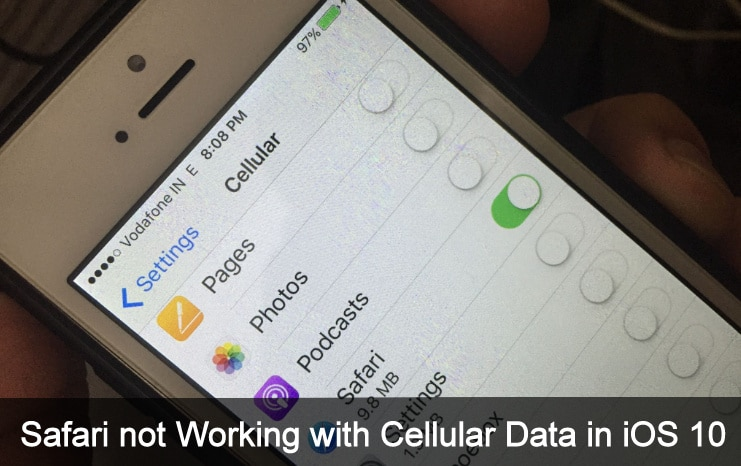 cellular data not working