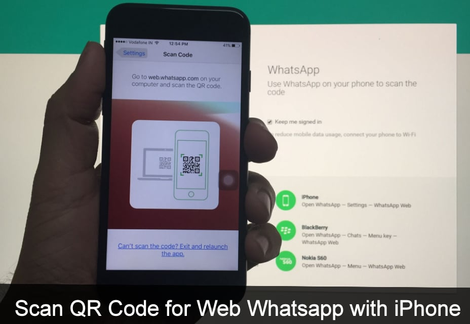 Enable Whatsapp Web with iPhone 7