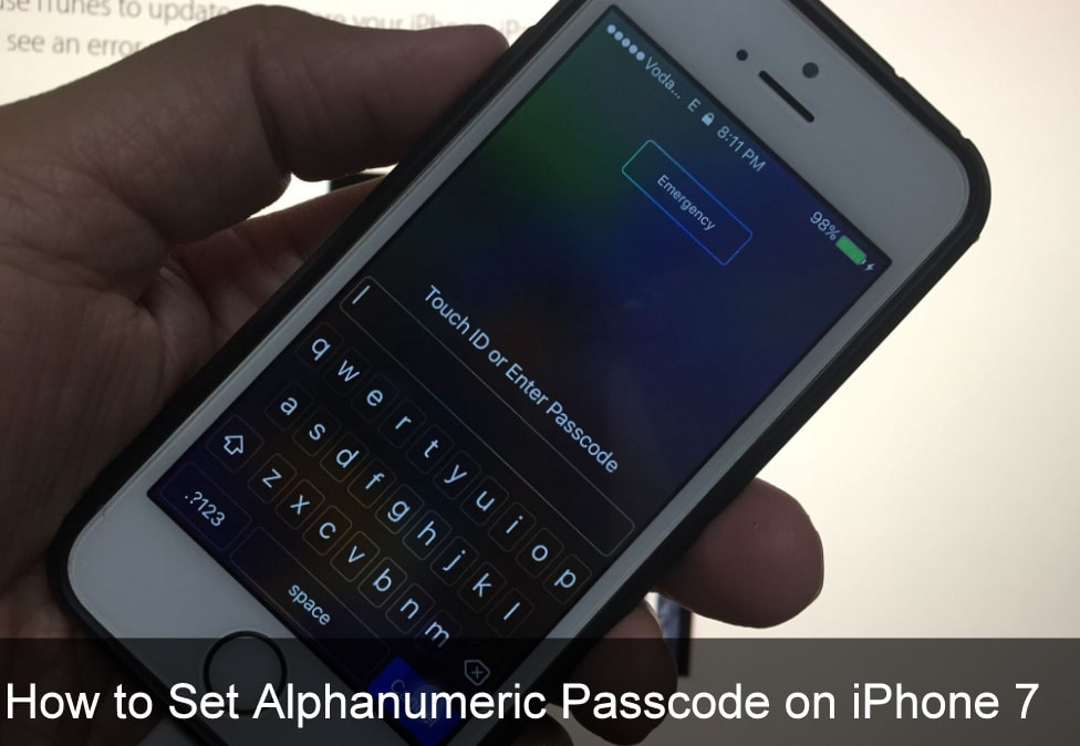 Set Alphanumeric Passcode on iPhone 7