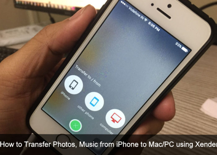 Transfer Photos, Music from iPhone to Mac/PC using Xender