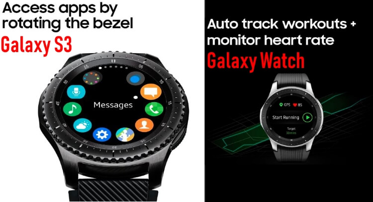Samsung Gear S3 Frontier and Samsung Galaxy Watch