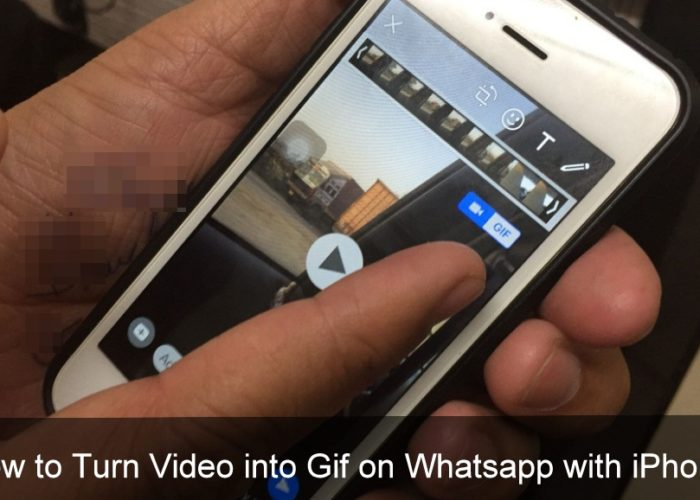 Convert Video into Gif on Whatsapp with iPhone 7 and 7 Plus