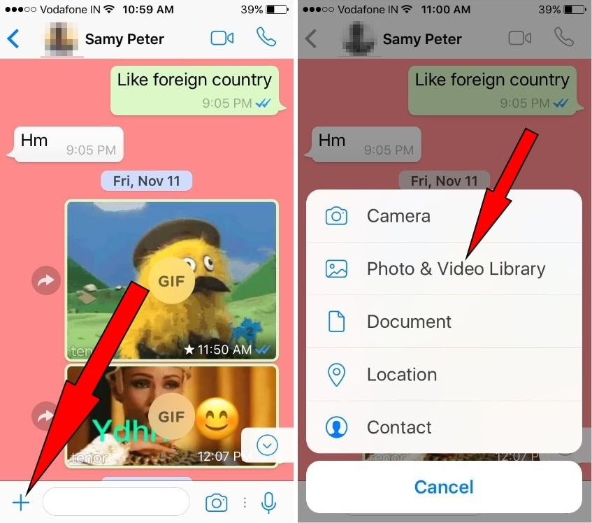 how to convert video into GIF on iPhone whatsapp