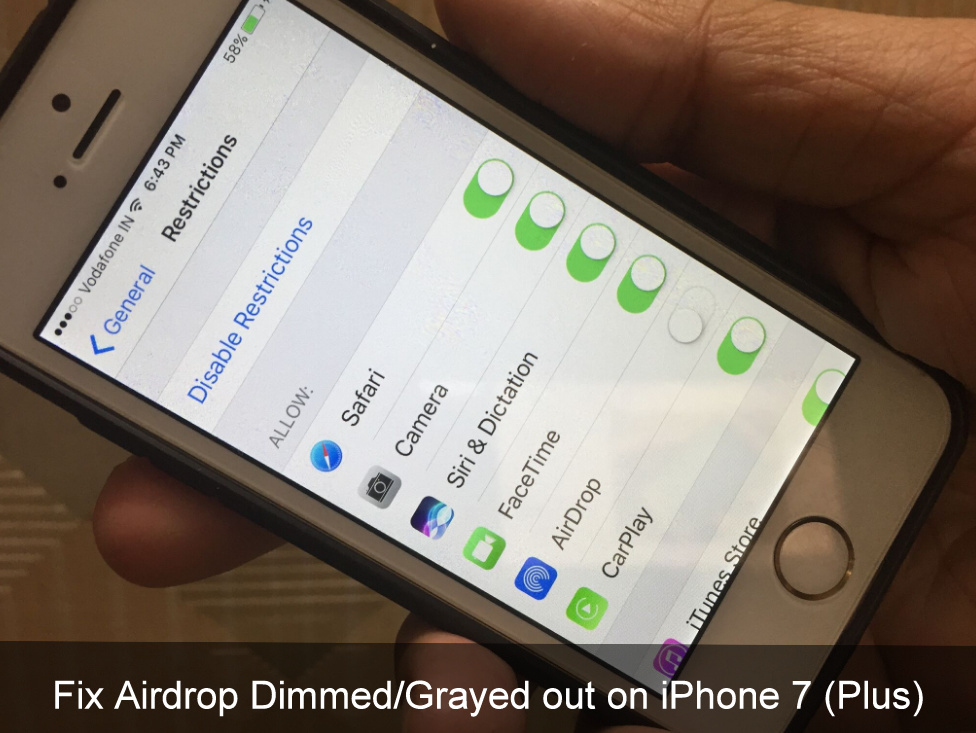 Easiest Way To Obtain An Airdrop: Fix Airdrop Dimmed/Grayed Out On IPhone 7 (Plus), 8 (Plus