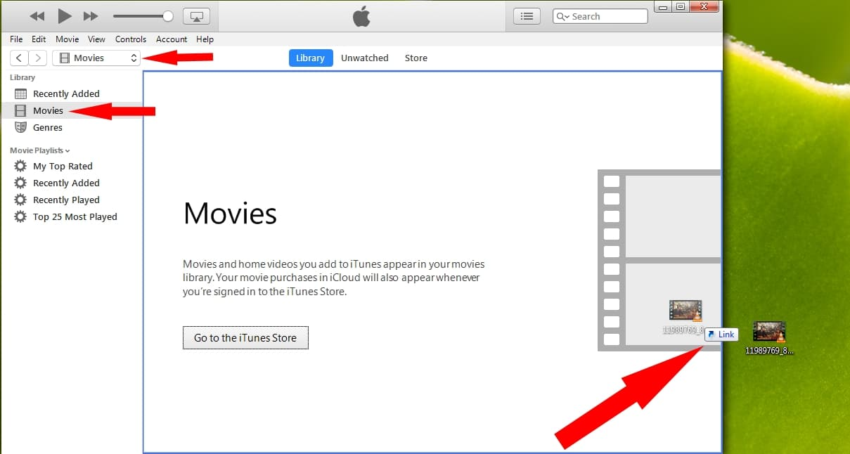 Movies Option in iTunes