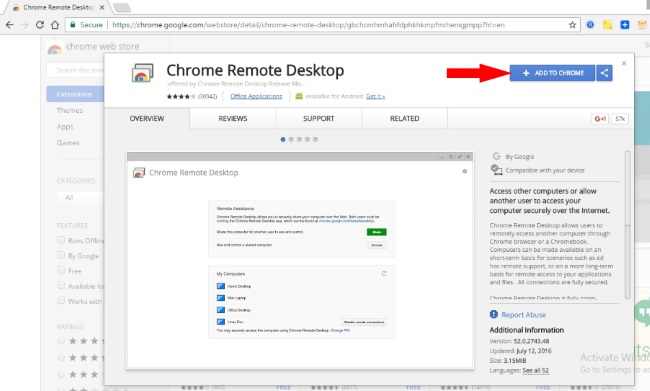 install remote Desktop on Google Chrome for iMessage