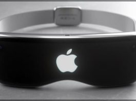 Apple VR headset in design
