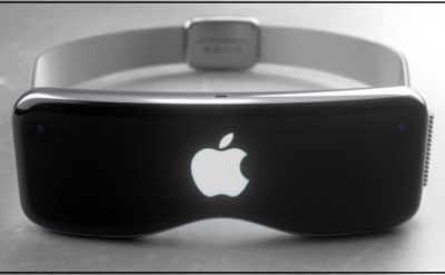 Apple VR headset in design