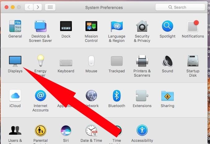 System on System Preference on Mac