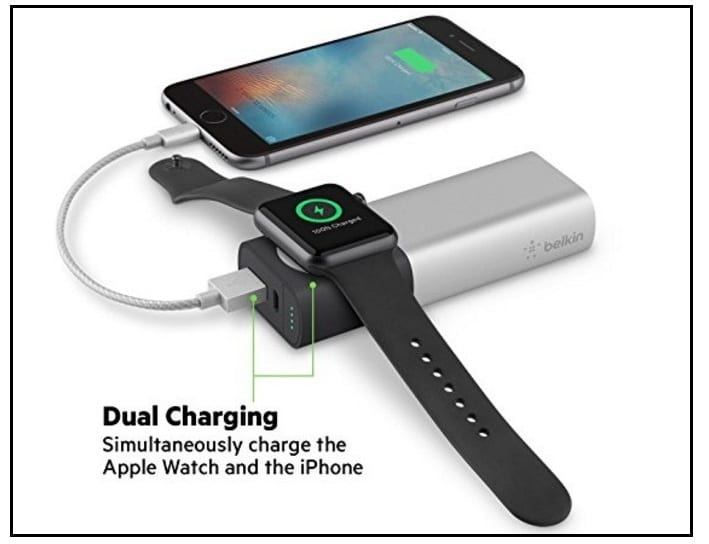 Belkin 6700mAh power juice pack for Apple Watch series 2