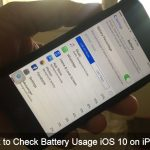 How to Check battery Usage iOS 10 on iPhone 7 Plus: Find Battery Killer Apps