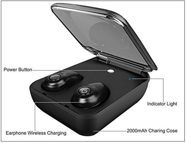 Hiwill Bluetooth Earbuds Sweatproof charging box