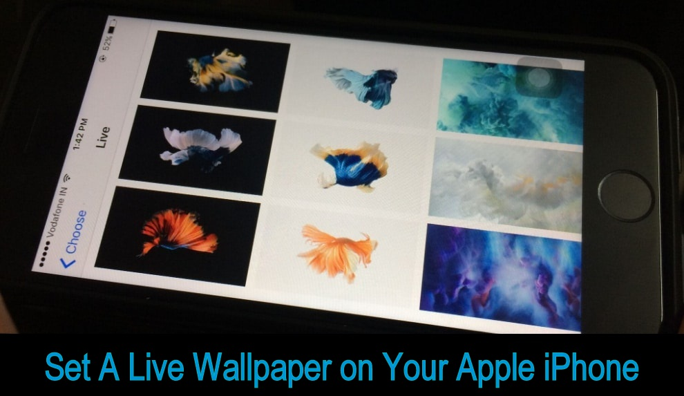 set a live wallpaper on iPhone, iPad Pro 9.7''