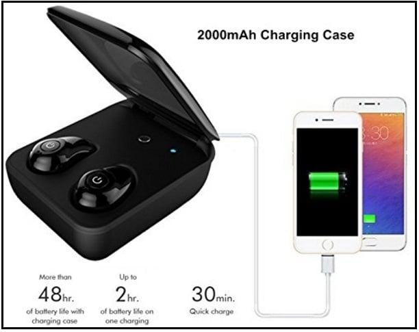 Wireless earbud case black - earbud iphone case