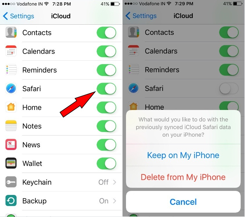 Turn iCloud bookmarks Off and again ON for Safari