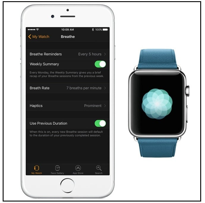 Disable/ turn off breathe Reminders on the Apple Watch