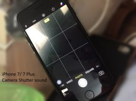 Change Shutter sound on iPhone 7 or 7 Plus camera