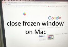 close frozen window on Mac installed MacOS Sierra