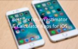 Best Tex return estimator and Calculator iOS app