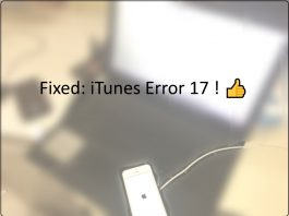 iTunes error 17 fix on Mac or PC
