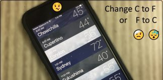 Change Celsius to Fahrenheit on iPhone or iPad