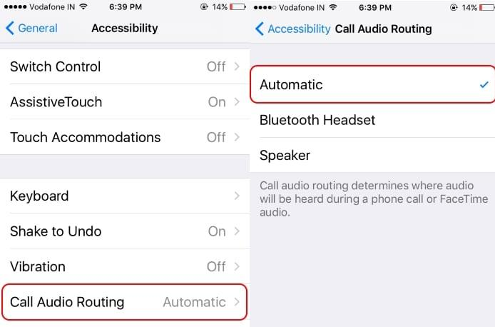 Change call routing on iPhone