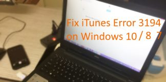 Fix iTunes error 3194 on Windows 10