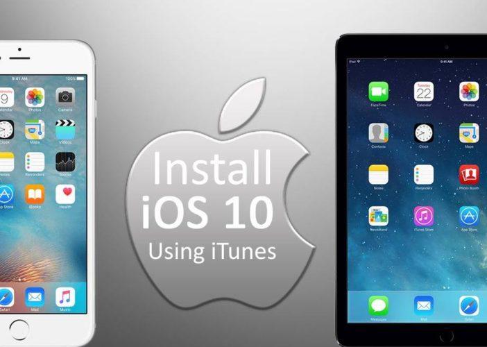 Install iOS 10 on iPhone using iTunes or OTA