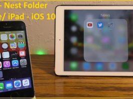 nest folder in iOS 10 on iPhone and iPad folder in folder