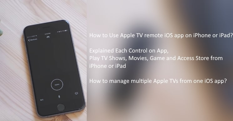 Use Apple TV remote app from iPhone and iPad