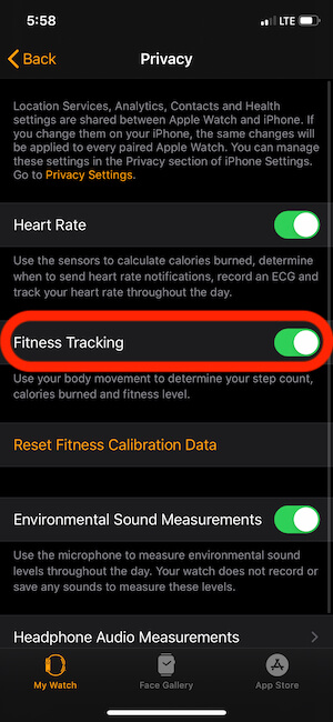 Enable Fitness Tracking on Apple Watch