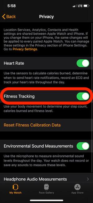 Включить отслеживание фитнеса на Apple Watch
