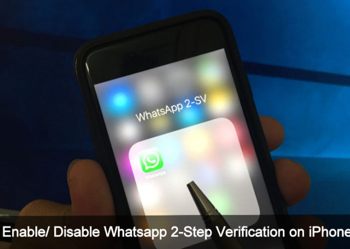 Disable Tow-Step Verification Whatsapp on iPhone