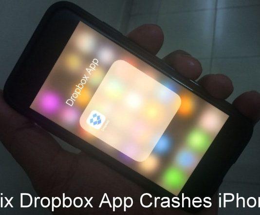 Fix Dropbox App crashes iPhone after Update