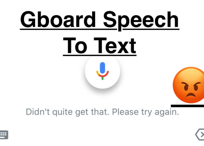 Gboard Speech to Text on iPhone