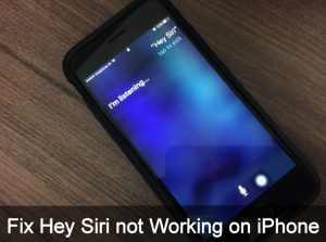 Hey Siri not Working on iPhone 7 Plus/ iPhone X/ 8/ 8 Plus: iOS 11 later