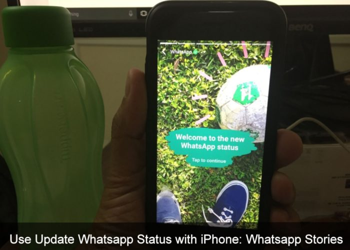 Use Update Whatsapp Status with iPhone 7 Plus, iPhone 6S, iPhone 5S, iPhone 4s