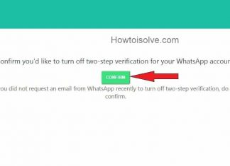 message Two-step verification has been removed from your WhatsApp Account
