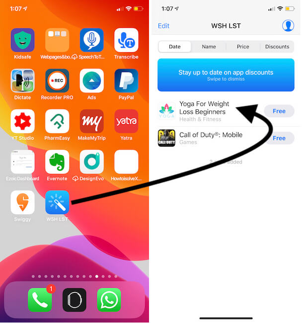Show all Bookmarked app on iPhone