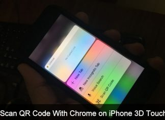 Scan QR Code With Chrome on iPhone 3D touch shortcut