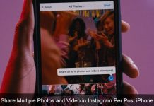 Share Multiple Photos and video in Instagram per post iPhone