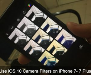 Use iOS 10 Camera Filters on iPhone 7 Plus
