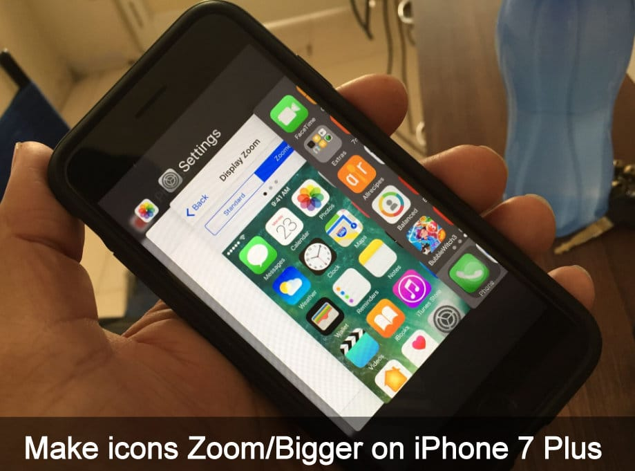 small or enlarge apps icon on your iPhone