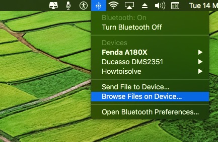 Browse bluetooth device on Mac